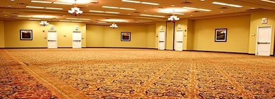 Banquet space with oriental style carpeting